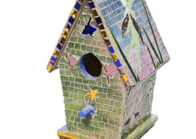 Fairy Mosaic Birdhouse